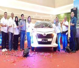 Peluncuran New Calya, Jumat (20/9/2019) di Living World Pekanbaru.